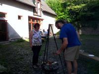 Grillen im Pfarrhof