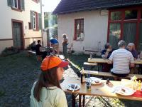 Sommerwetter im Pfarrhof