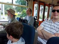 In der historischen Straßenbahn